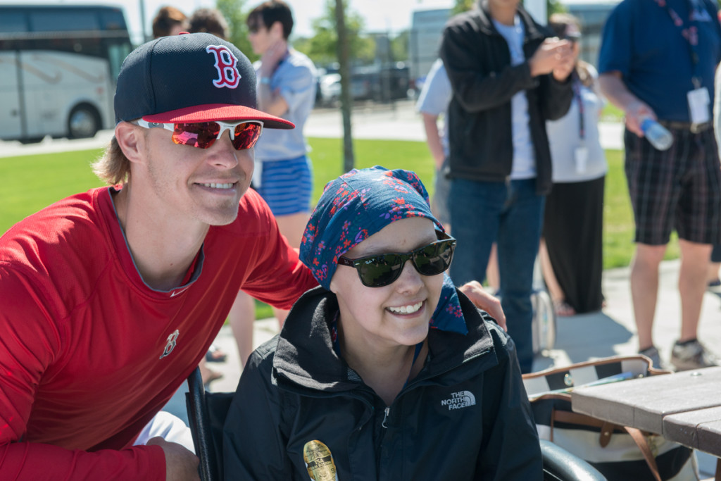 Red Sox third baseman and 2015 Jimmy Fund Co-Captain, Brock Holt, spent time with the teens.