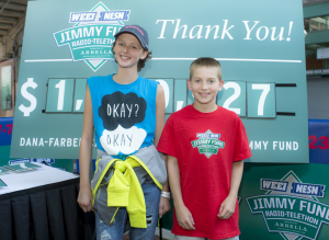 Dana-Farber patients, Zack and Shannon, share their inspiring stories at the 2014 WEEI/NESN Jimmy Fund Radio-Telethon presented by Arbella Insurance Foundation