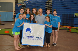 Putting for Patients founder Mark Levine with student-organizers from Medfield High School.