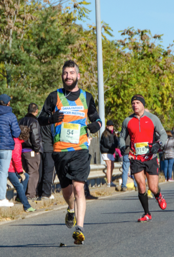 Kevin Long, above, ran the Bay State Marathon to honor his mother.