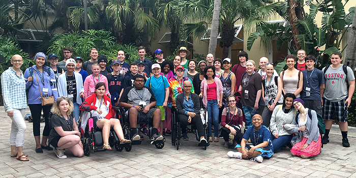 There were 43 patients and 24 chaperones on this year's spring training trip