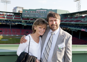 Caption: Allan and Debbie Osborne made a gift to Dana-Farber and the Jimmy Fund in their will to support the future of cancer research and care.