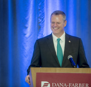 Gov. Charlie Baker was the keynote speaker for the 26th annual Dana-Farber Society (DFS) Recognition Dinner June 2.