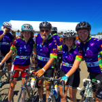 PMC rider and cancer survivor, Don Wexler, with daughters Chloe and Faye and nephew Michael Wexler.