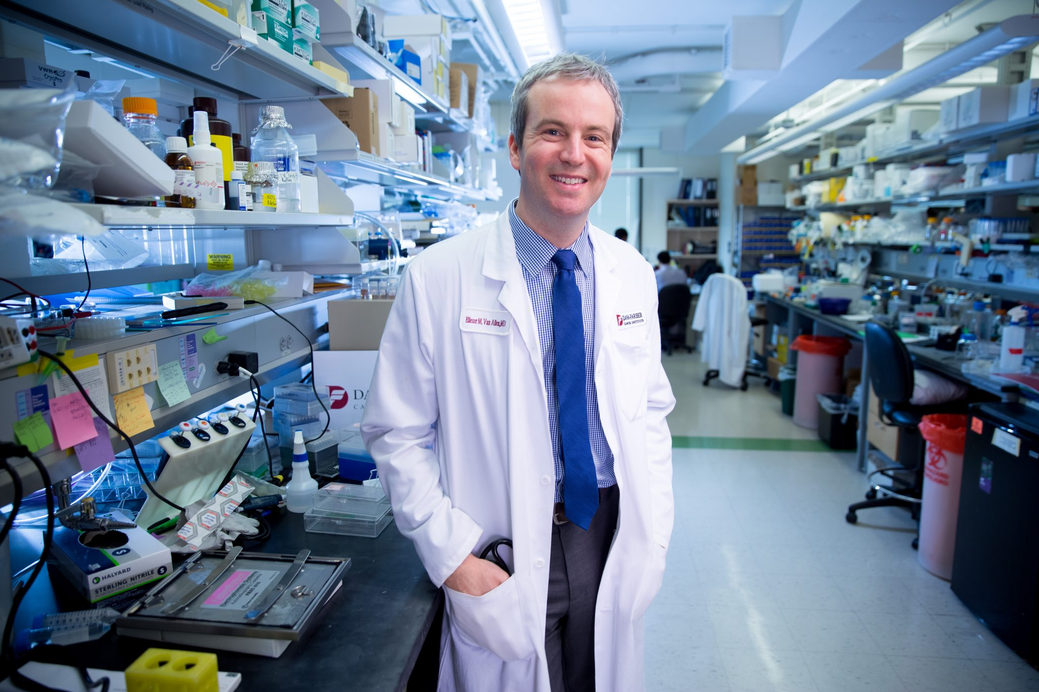 Eliezer Van Allen, MD, a physician-scientist in Dana-Farber's Lank Center for Genitourinary Oncology, is a 2016 SU2C Phil Sharp Award recipient.
