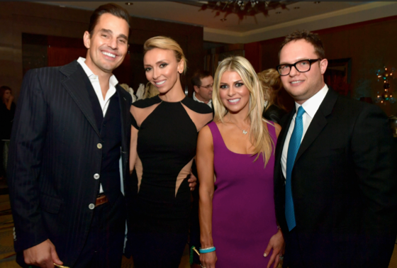 Hosts Bill and Giuliana Rancic with Jessica and Sam Slater.