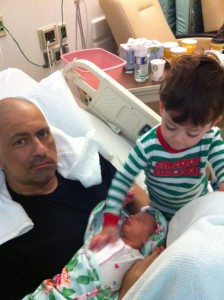 Luca and infant Stella were always quiet and attentive in their Uncle Danny's hospital room.
