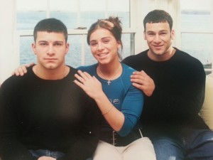 Left to right: siblings Danny, Jennifer, and Fred Magnanimi were a close-knit trio.