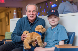 Lucchino and Cameron Miller share two things: a love of the Red Sox and lymphoma treatment at Dana-Farber.