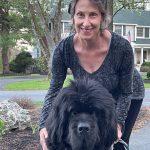 Judy and her dog, Norton.